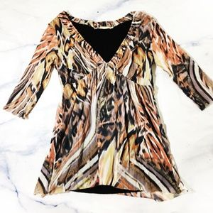 Anthropologie Weston Wear Abstract Layered Blouse